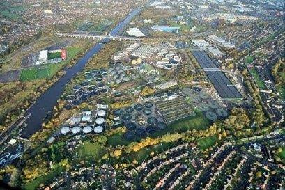 Davyhulme site from the air