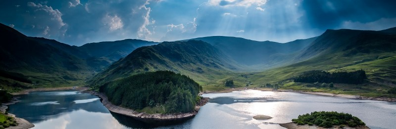 Sunny day over Haweswater, the Lake District, Cumbria